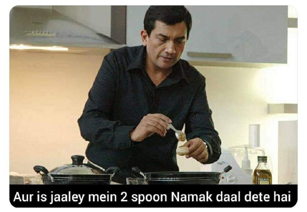 sanjeev kapoor salt meme templates of 2020