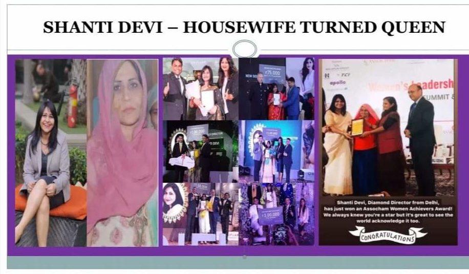 Shanti Devi as a digital mompreneur with her achievements